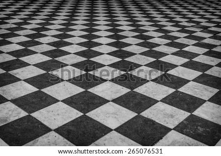 Black And White Floor Texture