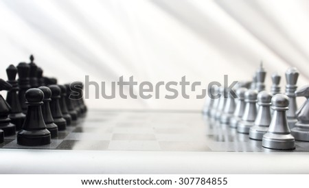 Black and white chess board. High resolution image.
