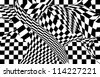 Black and white chess cellular abstraction - stock photo
