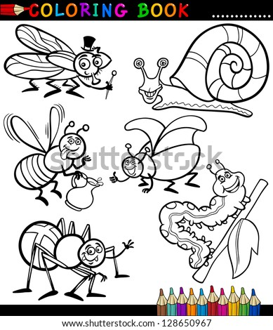 cartoon bug coloring pages - photo#27
