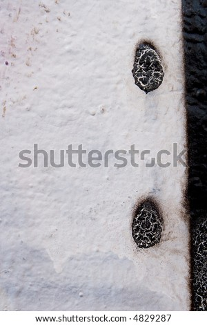 black and white colour painted wall - stock photo