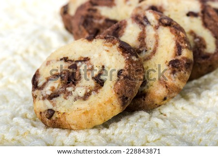black and white cookies/Biscuits/Cookies - stock photo