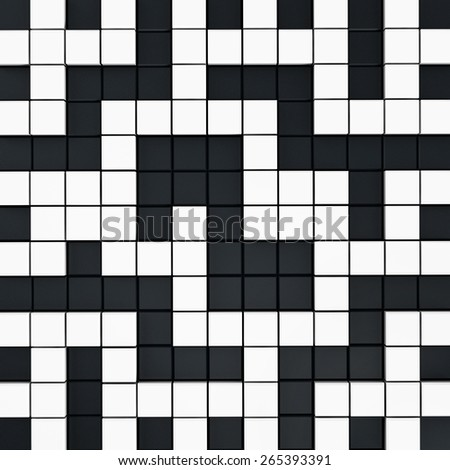 Black and white crossword puzzle background - stock photo