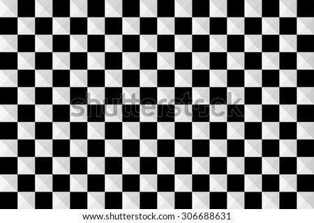 black and white 3D square pattern - stock photo