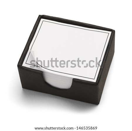 Black and White Desk Box Calendar Isolated on White Background. - stock photo