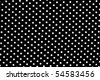 Black and white dots fabric background - stock photo