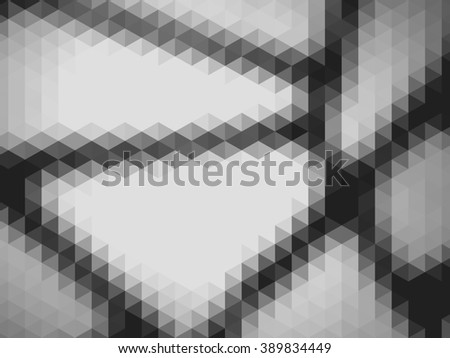 Black and White geometric abstract background