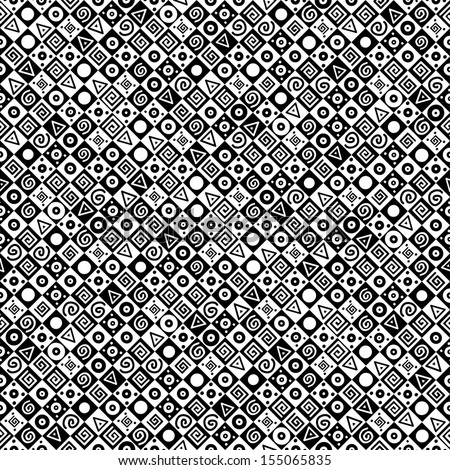 Black and white geometric background. Illustration