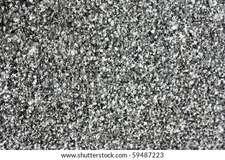 Black-and-white granite wall - stock photo