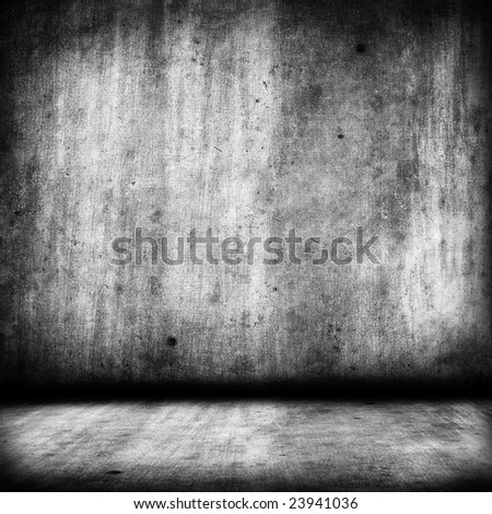 black and white grunge background - square format - stock photo