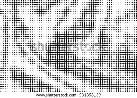 Black and white Halftone pattern background.