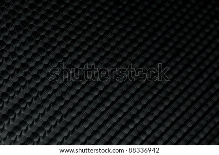 Black and white honeycomb background with light effect - stock photo