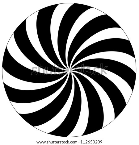 Black and white hypnotic background.  Raster version. - stock photo