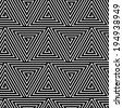 Black and White Hypnotic Background Seamless Pattern. - stock vector