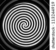 Black and white hypnotic spiral - stock photo