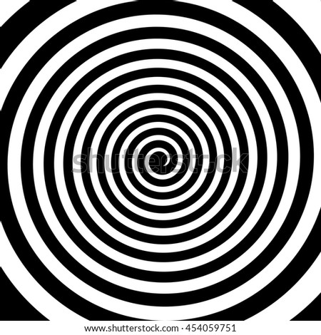 Volute Spiral Concentric Lines Circular Rotating Stock
