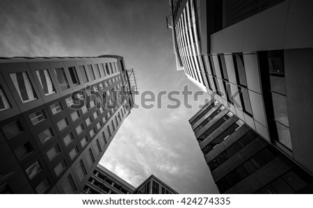 Black and White image of Commercial Building in Wellington, New Zealand