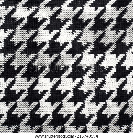 Black White Knitted Houndstooth Pattern Cloth Stock Photo (Edit Now ...