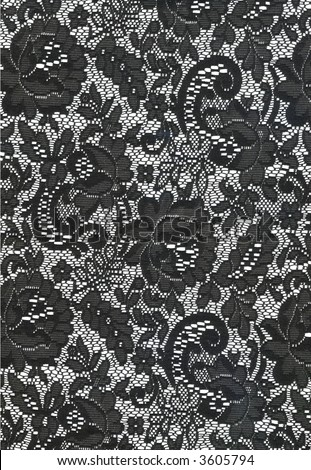 Black and White Lace Texture - stock photo
