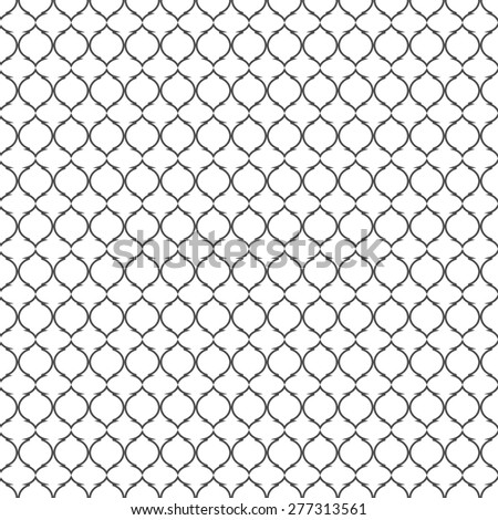 Black and white lattice pattern.Traditional seamless background. - stock photo