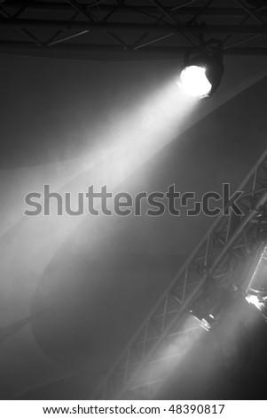 Black and White Lighting Equipment - stock photo