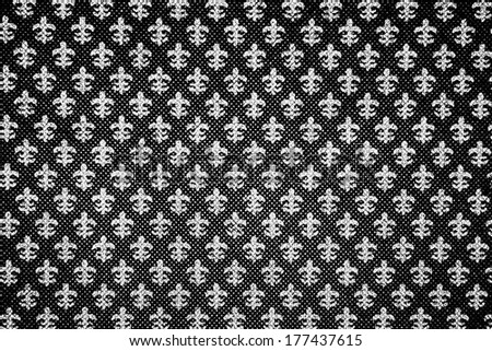 black and white Moroccan background seamless - stock photo