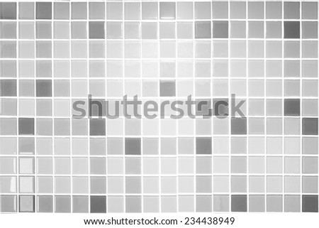Black and White Mosaic Tiles abstract background and texture - stock photo