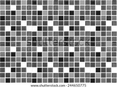 Black and White Mosaic Tiles abstract background and texture