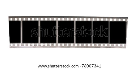 black and white negative film  isolated on white background - stock photo