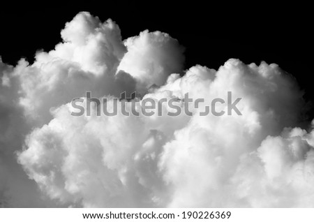 Black and white Nimbus in Cloudscape / Nimbus in Cloudscape - stock photo