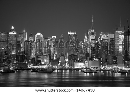Black and White of Midtown Manhattan
