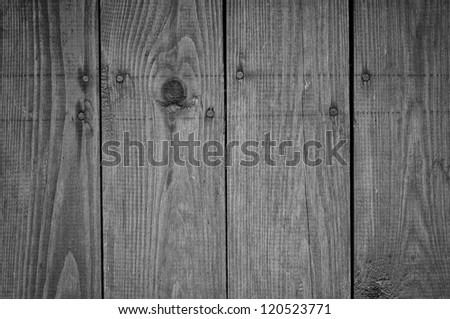 Black and white old boards texture - stock photo