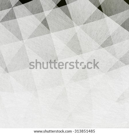 black and white pattern of squares in diagonal layered stripes and lines in criss cross design - stock photo