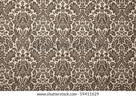 black and white pattern wallpaper. photography with uniform illumination. Vintage style - stock photo