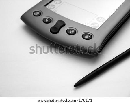 Black and White PDA - stock photo