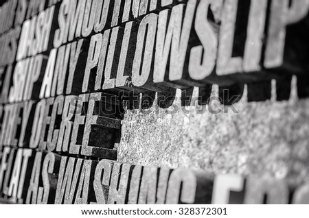 black white photography thick stone letters stock photo royalty