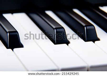 black and white piano keys - stock photo