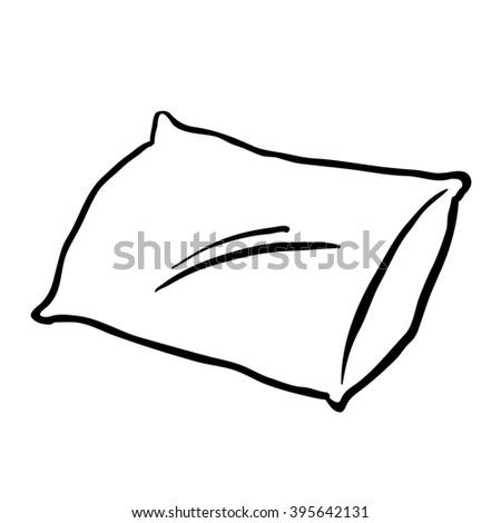 Black And White Pillow Cartoon