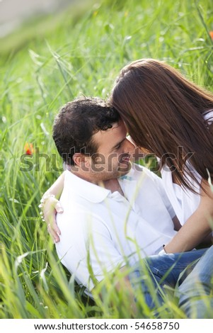 Black and white portrait of a lovely couple in love. - stock photo