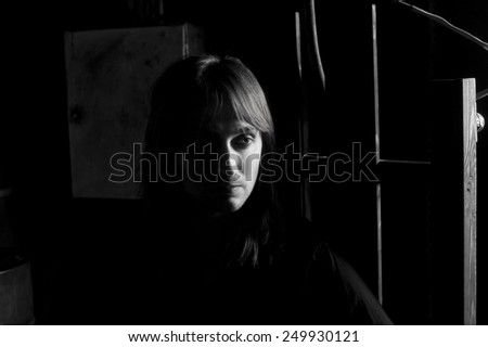 Black and white portrait of man on electric chair . Dramatic studio lighting & Black White Portrait Man On Electric Stock Photo 249930118 ... azcodes.com