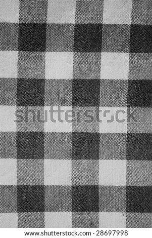 Black and white rustic textile