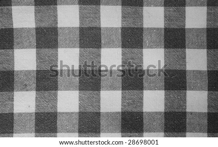 Black and white rustic textile - stock photo