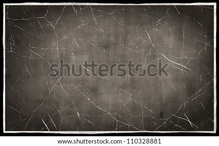 Black and white scratch background - stock photo