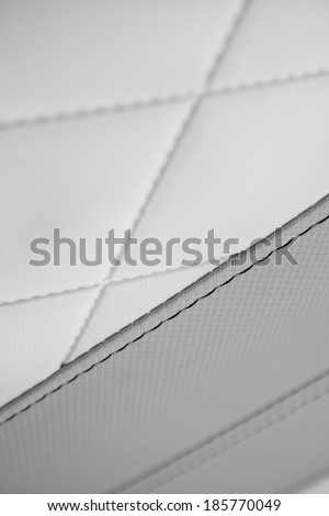 black and white sewing leather texture  - stock photo