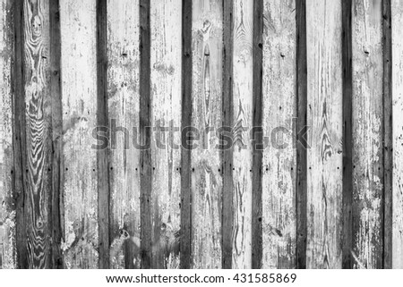 Black and white shabby wooden texture background. Wooden wall background