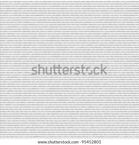 black and white sheet of binary codes as abstract texture to design new backgrounds - stock photo