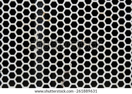 Black and White speaker net background for high technology in the modern life - stock photo