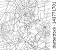 Black and white spider net seamless illustration - stock vector