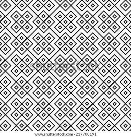 Black and White Square Geometric Repeat Pattern Background that is seamless and repeats