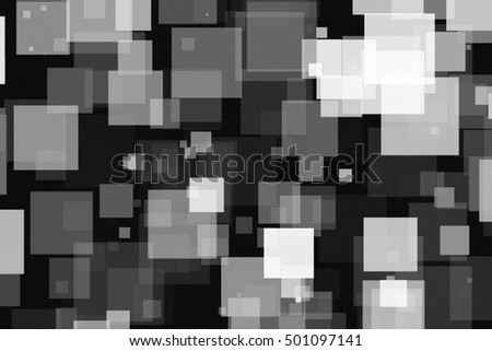 Black and white squares of light